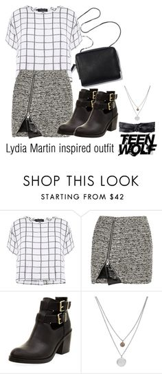 """""""Lydia Martin inspired outfit/TW"""" by tvdsarahmichele ❤ liked on Polyvore featuring Myne, Bouchra Jarrar, Kenneth Cole and prAna"""