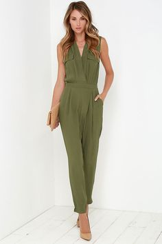 c838c9f20332 Sensible Solution Olive Green Jumpsuit in 2019