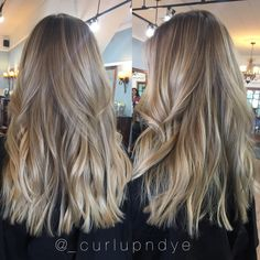 Foilayage shadow root Hairpainting balayage blonde hair