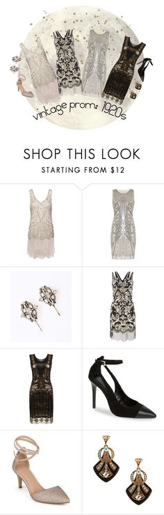 """""""Prom: 1920s Inspiration"""" by beetlescarab ❤ liked on Polyvore featuring Frock and Frill, Topshop, Journee Collection, vintage, PROMNIGHT, 1920s and Flapper"""