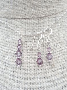 Check out this item in my Etsy shop https://www.etsy.com/uk/listing/294927373/light-amethyst-swarovski-crystal-earring