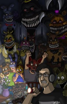 FNAF 4 and Markimoo! This looks AMAZING!