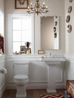 A basic pedestal sink will save floor space and add style to your bathroom without breaking the bank. Photo courtesy of Kohler Co.