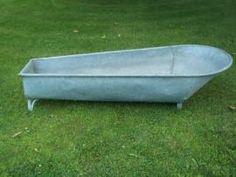 Galvanized Metal Cowboy Bathtub - Lightweight
