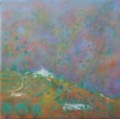 Title: Juviles, Alpujarras, Granada  Technique: Oils on canvas  Date: 2009  Size:38x38 cm.  Price: $400