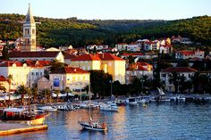 Port of Supetar on Island Brac, Croatia