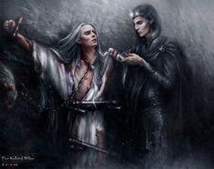 Melkor and Edenel by Kaprriss on DeviantArt Medieval Fantasy, Dark Fantasy, Fantasy Art, Fantasy Story, Thranduil, Legolas, Fantasy Inspiration, Character Inspiration, Morgoth