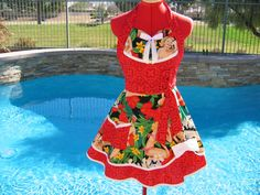 Pin Up Apron Womens Full Sweetheart Retro with by sassyapron