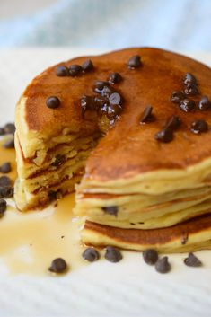 Peanut Butter Pancakes, Chocolate Chip Pancakes, Pancakes And Waffles, Chocolate Peanut Butter, Little Lunch, Dinner Recipes Easy Quick, Perfect Breakfast, Sunday Breakfast, Dessert For Dinner