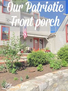 Sharing how I decorated my front porch for the Patriotic Simmer holidays - Memorial day, 4th of July