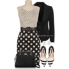 Black & White Polka Dots & Stripes
