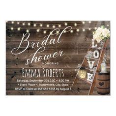 Vintage Wood Ladder Bridal Shower Invitation | Zazzle.com Cheap Bridal Shower Invitations, Bridal Shower Invitation Wording, Rustic Invitations, Wedding Invitations, Invites, Bridal Shower Rustic, Rustic Wedding, Wedding Ideas, Wedding Games