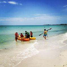 Water sports, kayaking and paddle boarding on Siesta Key, FL
