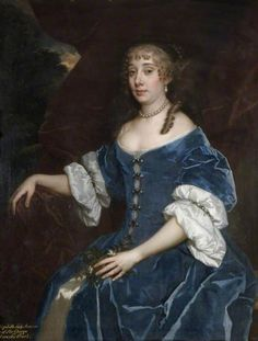 Elizabeth, Lady Monson by Sir Peter Lely (Birmingham Museums and Art Gallery - Birmingham, UK, specific location ? 17th Century Clothing, 17th Century Fashion, Baroque Painting, Woman Painting, Historical Costume, Historical Clothing, Birmingham Museum, Birmingham Uk, Rococo Dress