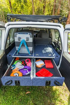 Volkswagen T5/T6 Twin Pull Out 800MM Drawer System with Fridge Slide. #VW #T5 #T6 #EXPEDITION #HOLIDAYS #TRAVEL #STORAGE