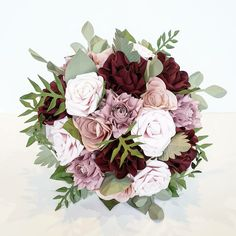 Paper Flowers Wedding, Flower Bouquet Wedding, Wedding Paper, First Anniversary Paper, Alternative Bouquet, Paper Bouquet, Gold Wedding Theme, Vintage Theme, Pink Paper