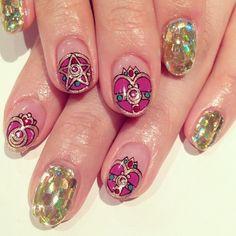 art design nails sailormoon nailart avarice kayo nailsalon ...