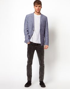 :blue spring jacket