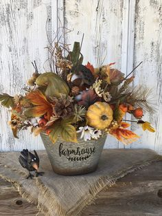 Excited to share this item from my shop: Farmhouse Fall Floral and Pumpkin Centerpiece, Autumn Pumpkin Arrangement, Harvest Floral Decor, Thanksgiving Table Arrangement, FAAP Pumpkin Arrangements, Fall Floral Arrangements, Floral Centerpieces, Thanksgiving Flowers, Thanksgiving Table, Fall Flowers, Flowers Garden, Harvest Decorations, Fall Home Decor