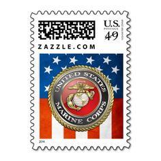 e5401772bae U.S. Marine Corps (USMC) Emblem  3D  Stamp Military Officer
