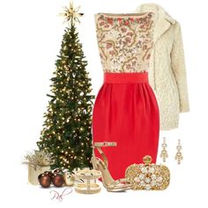 Elegant Christmas Party Polyvore Combinations | T&M