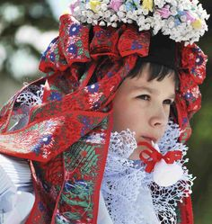 Children folk costume from South Moravia, Czechia
