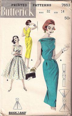 Understanding The Vintage Sewing Pattern - Sewing Method Vintage Girls, Vintage Outfits, Vintage Fashion, Vintage Clothing, Vintage Dress Patterns, Clothing Patterns, 60s Patterns, Patron Vintage, Fashion Artwork