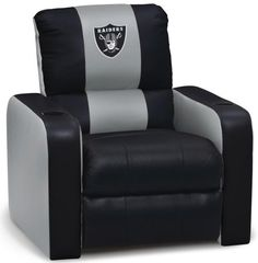DreamSeat Oakland Raiders NFL Leather Recliner by Dreamseat  sc 1 st  Pinterest & Oakland Raiders Den Chair with Ottoman at www.SportsFansPlus.com ... islam-shia.org