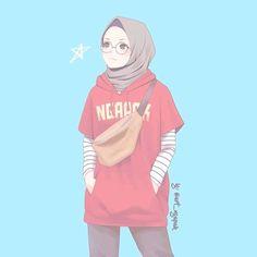 Muslim Pictures, Hijab Drawing, Islamic Cartoon, Hijab Cartoon, Cute Cartoon Girl, Islamic Girl, Muslim Girls, Anime Sketch, Cute Characters