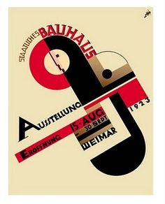 Bauhaus poster 1923 - need to get this after I finish my thesis