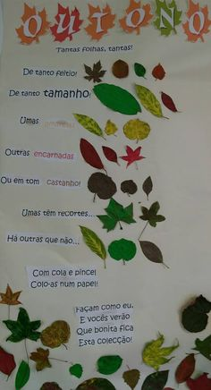 Outono Fall Projects, Projects For Kids, Crafts For Kids, Diy Crafts, Autumn Activities, Preschool Activities, Princess And The Pea, School Items, Autumn Crafts