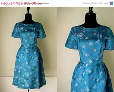 MOVING SALE Vintage 1960's Party Dress / The von OurTownVintage