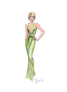 Movie-wise, Marilyn's favourite siren style costumes were by one man: an Oscar-winning designer given an Italian-American mantle by film publicity, William Travilla. Though he dressed around 270 stars over fifty years - including Jane Russell, Betty Grable, Lauren Bacall, Joan Crawford, Errol Flynn, and later, Barbra Streisand, to the TV cast from 1980's cult series, 'Dallas' – Travilla's main claim to fame remains as Marilyn's magical image-maker.