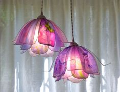 Suspension Light Chandelier 2 Tender Pink and Lilac Flowers single piece handmade resin paper Flower Lamp, Flower Lights, My New Room, My Room, Cute Room Decor, Aesthetic Room Decor, Diy Décoration, House Rooms, Furniture Decor