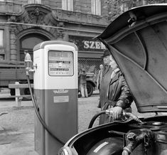 Fuel Truck, Budapest Hungary, Gas Station, Landline Phone, History, Arch, Trucks, Hungary, Historia