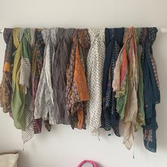 These beautiful hand painted scarves from India £12.00 each