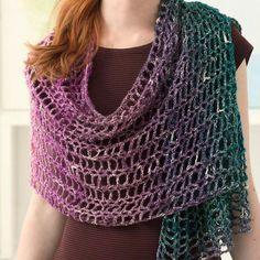New Crochet Shrug Scarf Lion Brand Ideas Crochet Baby Socks, One Skein Crochet, Crochet Wrap Pattern, Crochet Flower Patterns, Crochet Scarves, Crochet Ideas, Shawl Patterns, Irish Crochet, Crochet Clothes