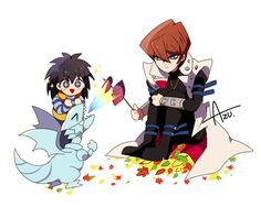 Azu., Yu-Gi-Oh!, Yu-Gi-Oh! Duel Monsters, Kaiba Mokuba, Kaiba Seto, Blue-Eyes White Dragon
