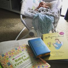 Project of the day! 💕  Finish up the Pregnancy Journal, start the Baby's First Year Journal, and put in some entries in the One Line a Day Book for my toddler. Do you have any keepsakes that you love?  #keepsake #baby #journal #memories #momlife #pregnancy #newbaby #newborn #onelineaday #mommeecoffee #maternityleave