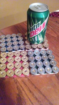 4 Shotgun Shell Drink CoasterSets by SouthernHomeArt on Etsy, $15.50