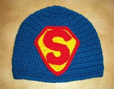 It's a Bird, It's a Plane, it's a Beanie! free #crochet #superman #beanie