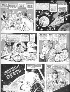 Mad Magazine in the 60's had one of the greatest caricaturists in Mort Drucker. Loused-Up in Space 05