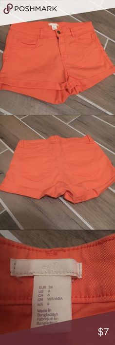 H&M Coral Shorts These cuties will add a pop of color to your summer wardrobe! H&M Shorts