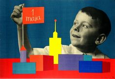 """Moma, exhibition """"Century of the child"""" Roman Cieslewicz - Maja (May Day) Moma, Photomontage, Polish Posters, Film Posters, Interactive Museum, Museum Poster, Modern Toys, Book Letters, Happy Design"""