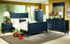 Homelegance 875 Pottery Black Bedroom Set
