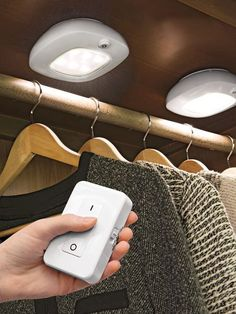 10 ways to add closet lighting no wiring required for the home rh pinterest com Electric Closet Systems Closet Doors