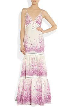 Roberto Cavalli|Printed silk maxi dress|NET-A-PORTER.COM $4,315.00