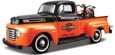1948 Ford F-1 & Harley Panhead - orange/black