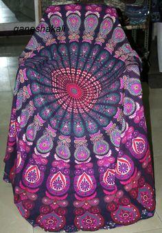 KyRy Large Round Beach Towel Fringe Beach Blanket Picnic TableCircle Yoga Mat
