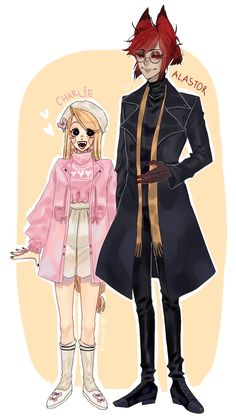 """""""Alastor and Charlie in some kind of fashion maybe idk— H Hotel, Hotel Arts, Monster Hotel, Alastor Hazbin Hotel, Black Hair With Highlights, Vivziepop Hazbin Hotel, Voltron Ships, Couple Drawings, Anime Angel"""